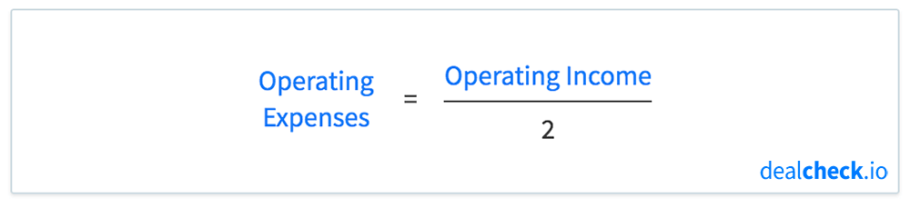 The 50% Rule Formula - Operating Expenses