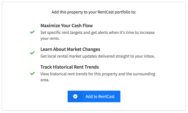Add rental properties to RentCast.io with one click
