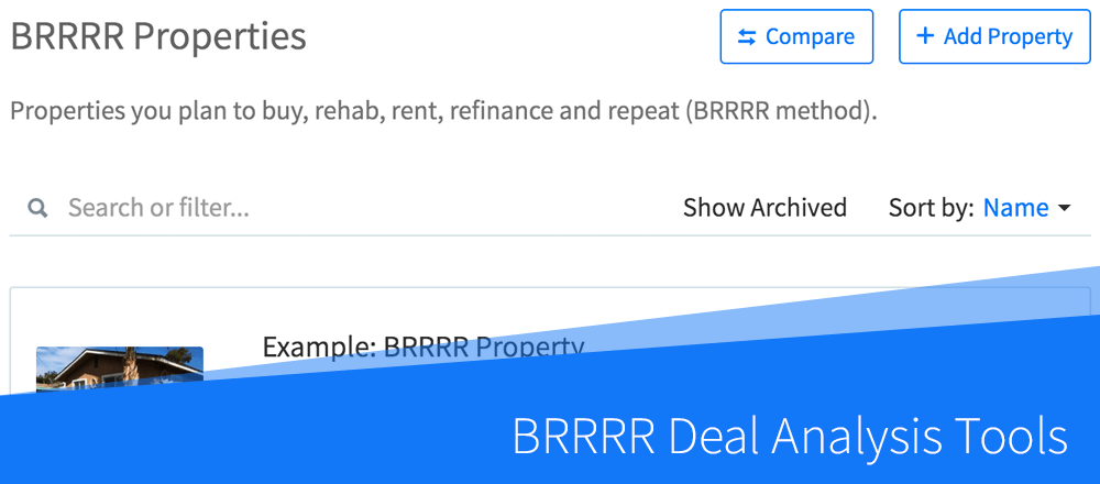 New Feature: BRRRR Deal Analysis Tools
