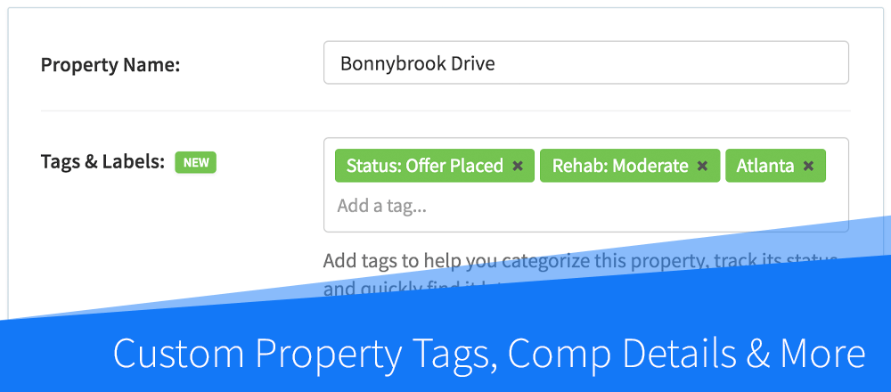 New Features: Custom Property Tags, Comp Details & More