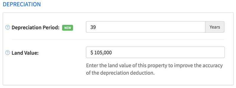 Adjust depreciation period for any rental property