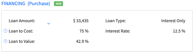 See more detailed loan analysis for all properties