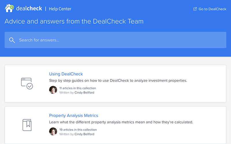 DealCheck Help Center