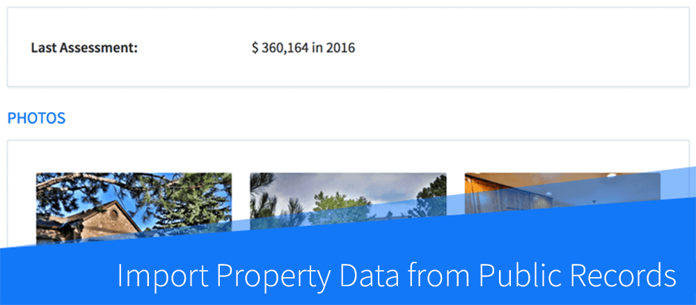 New Feature: Import Property Data from Public Records Database