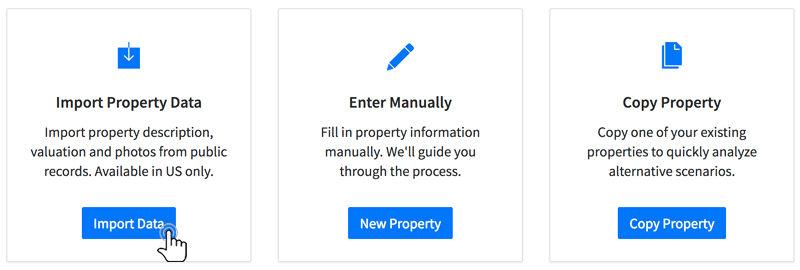 Add a new property through our intuitive wizard