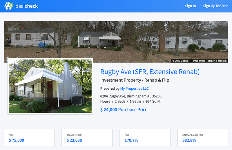 Quickly share interactive property reports anyone can view online