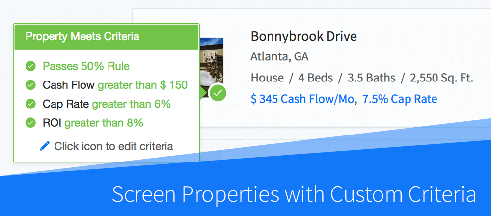 Quickly Screen Properties with Custom Purchase Criteria
