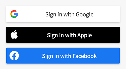 New Apple Sign In Option