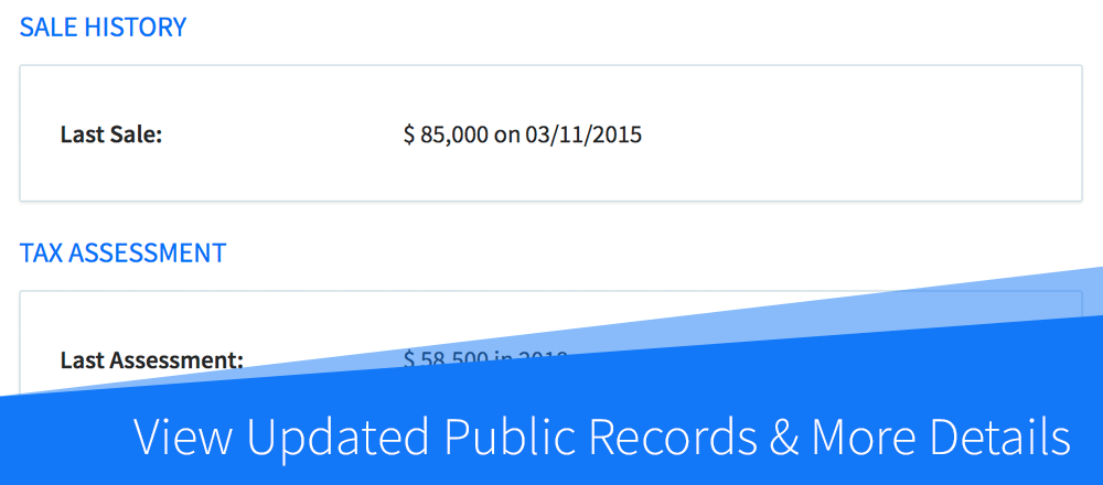 New Feature: View Updated Public Records for Existing Properties